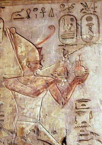 Relieve en la tumba de Psamético en Tebas