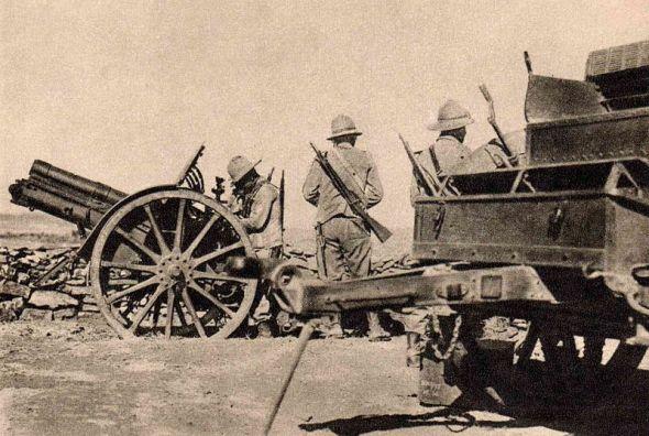 Artillería italiana en Tembien