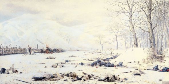 Campo de Batalla cerca del Paso de Shipka, Pintura de Vasili Vereshchagin