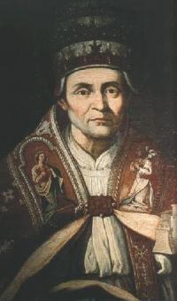 El papa Celestino V, segundo papa en  dimitir