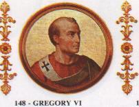 Gregorio VI, sucersor de Benedicto IX tras su renuncia