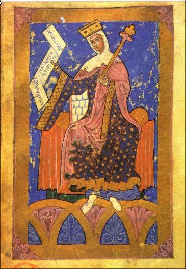 Miniatura medieval que representa a la reina Urraca I de León