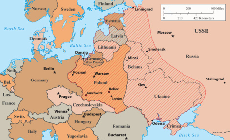 Mike King Europe in 1933. The shaded areas are what Timothy Snyder calls the bloodlands. Anne Applebaum writes, 'Between 1933 and 1945, fourteen million people died there, not in combat but because someone made a deliberate decision to murder them.'