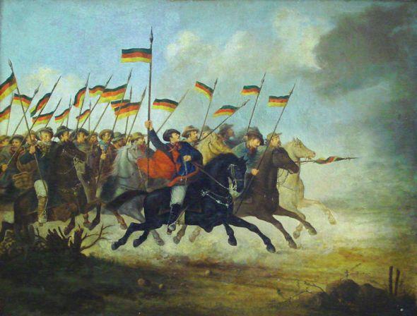 Guilherme Litran: Cavaleria de los farrapos. Museo Júlio de Castilhos, Porto Alegre