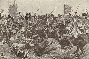 Representacion de la Batalla de Malplaquet