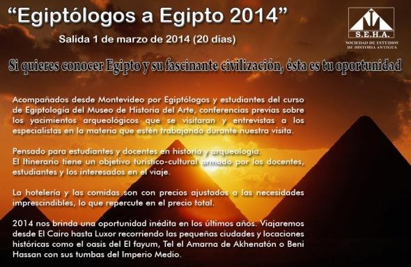 afiche de egiptolgos a egipto 2014