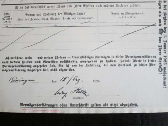 Declaración Hitler 1925