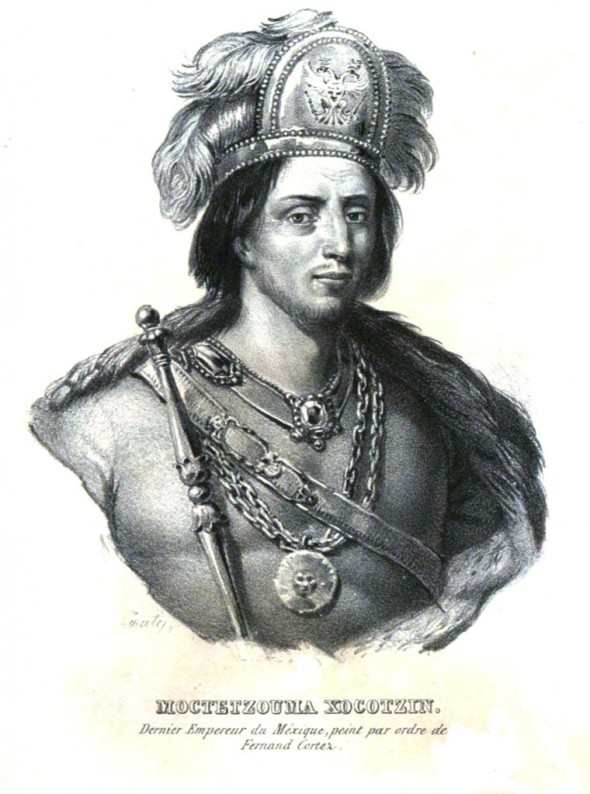 Litografía de Moctezuma