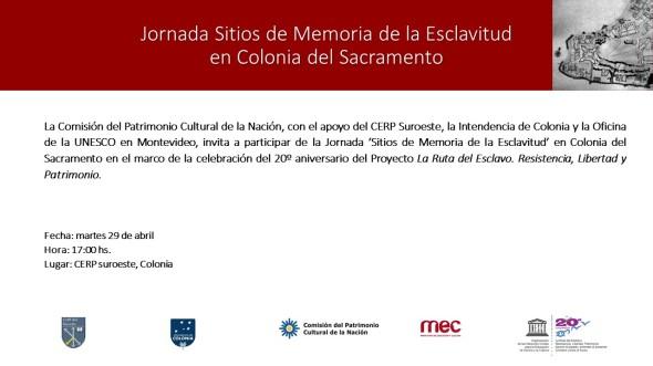 invitación Jornada Colonia del Sacramento