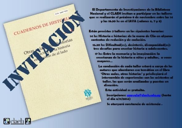 Afiche para talleres del 8 de noviembre
