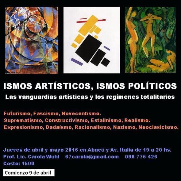 Cartel Ismos artísticos, ismos políticos 9.4