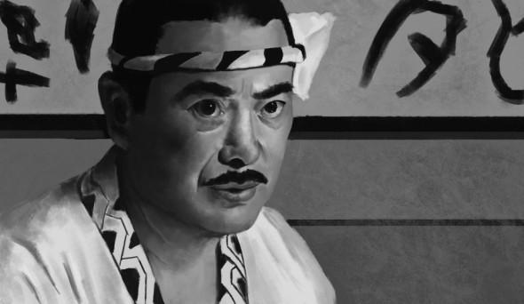 Sonny Chiba interpretando a Hattori Hanzo en Kill Bill