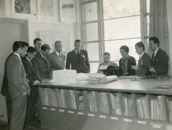 Carlos G. Gavazzo en el ITU, 1953 (J. Caruso)