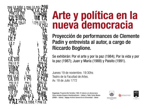 Arte y política en la nueva democracia
